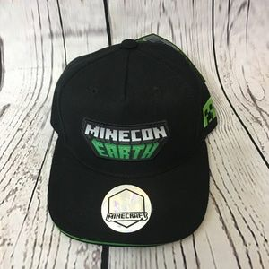 Minecraft Minecon Earth flatbill snap back cap hat